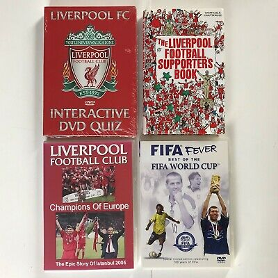 Liverpool Fc Interactive Dvd Quiz (Sealed) + 2 Other Dvds + 1 Book (Free P&P)
