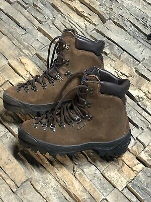 3a4fcf04d97 SCARPA ITALY BROWN Suede Leather Mountaineering Hiking Boots,Sz 45 ...