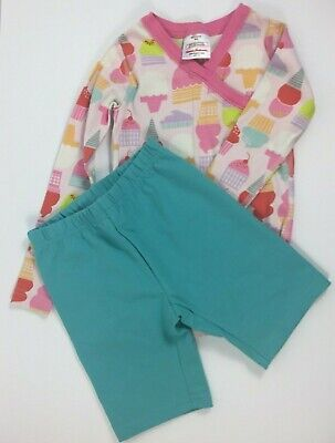 HANNA ANDERSSON Outfit Lot SIze 110 Shorts and Top Organic Cotton Pink Ice-cream