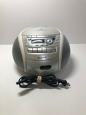 Sony CFD-E95 CD/Radio/Cassette Portable Boombox Tested Works 100%