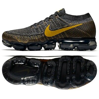 Nike Air VaporMax Flyknit Bumblebee 849558-021 Black/Mineral Gold Men's Shoes