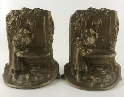 Aluminum Wash Lady Drinking Water Wall Fountain Book Ends Art