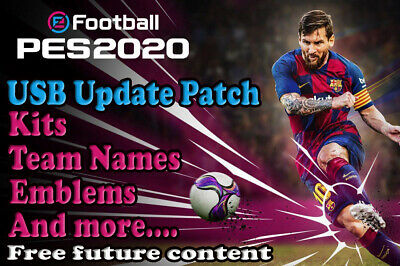 PES 2020 kits Option File PS4 Pro Evolution Soccer Update USB Logos READY NOW