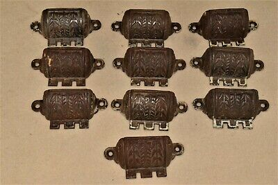 10  Antique Eastlake Victorian Cast Iron Drawer Pulls