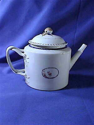 Antique Chinese Export porcelain Teapot late 18th early 19th C. Americana as-is