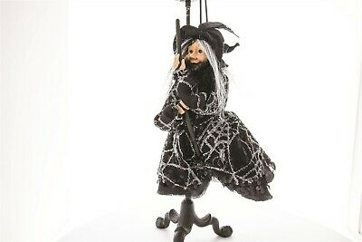 Victorian Trading Co Halloween Broomella the Hanging Kitchen Witch Figurine Doll