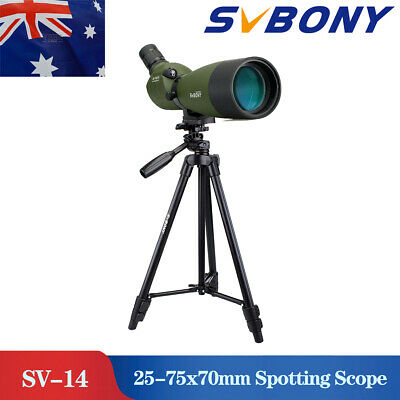 SVBONY SV14 25-75x70mm 45° Zoom Spotting Scope  Porro FMC+SV102 Tripod  AU Stock