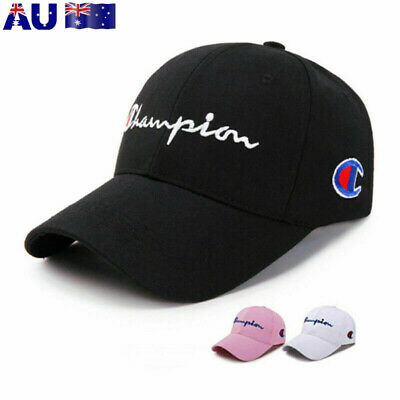 Unisex Champion Baseball Cap Sports Adjustable Canvas Caps Visor Retro Hat