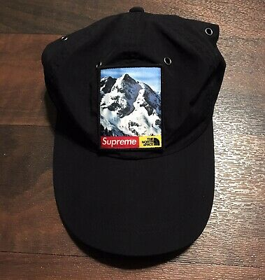 1962a053d SUPREME X THE North Face TNF Rose Gold metallic 6-panel Hat Cap ...