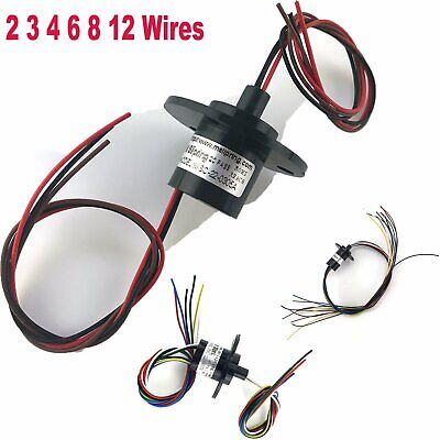 2 3 4 6 8 12 Wires 5A 22mm Dia 500RPM Collector Ring Wind Turbine Slip Ring Kit