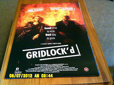 A4 available A3 A1 Gridlock 2 Pac Vintage Movie Poster A2