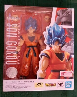 Bandai S.H. Figuarts Super Saiyan God Son Goku Blue Broly Dragon Ball Gokou