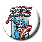 Marvel Comics Retro Captain America Official 25mm Colourful Button Pin Badge
