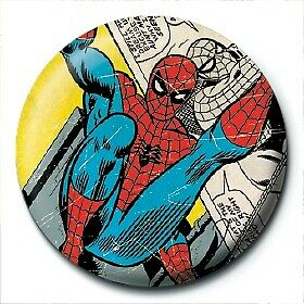 Marvel Comics Spider-Man Comic Icon Logo Avengers Official 25mm Button Pin Badge