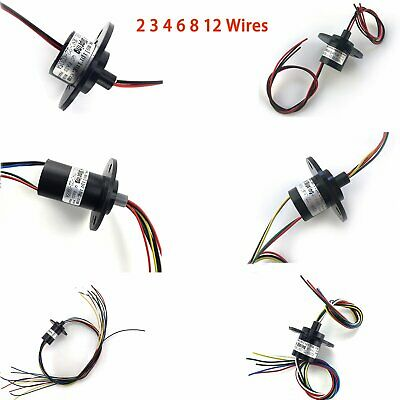 2/3/4/6/8/12 Wires 5A OD 22mm 500RPM Collector Ring Wind Turbine Slip Ring Kits