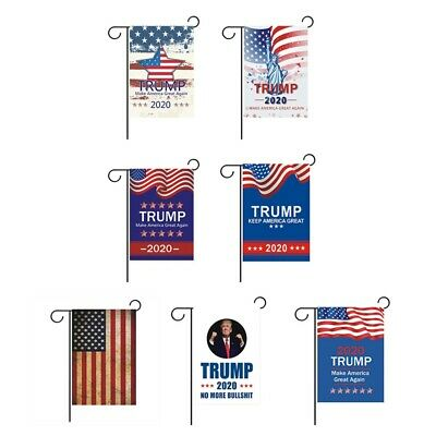 30*45CM Trump 2020 Garden Flag Double Sided America Great Yard Garden Decor Sign