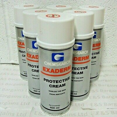6 x Chemsearch Exaderm Protective Cream Shields The Skin For Irritants