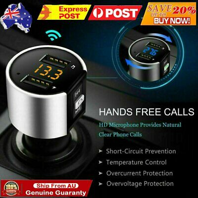 VicTsing V5.0 Bluetooth FM Transmitter QC3.0 Radio Music Car For Siri Google