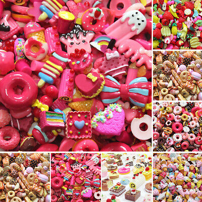 Mixed Slime Beads Flatbacks Resin Charms DIY Candy Scrapbooking Crafts Colorful