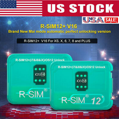 R-SIM12+V16 NEW Nano Unlock Card RSIM for iPhone XS/X/8/7/6 Plus 4G iOS 12.4 Lot