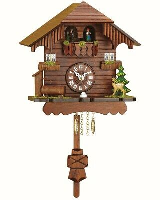 Black Forest Clock Black Forest House, turning dancers, no cucko.. TU 261 PQ NEW