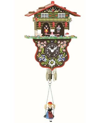 Black Forest Clock Swiss House Weather House  TU 808 SQ NEW