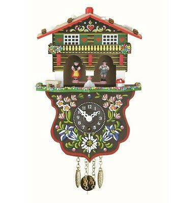Black Forest Clock Swiss House Weather House TU 808 P NEW