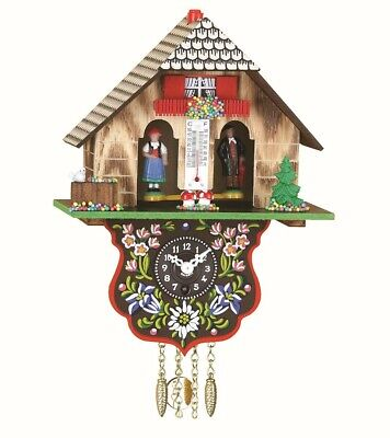Black Forest Clock Black Forest House Weather House TU 802 P NEW