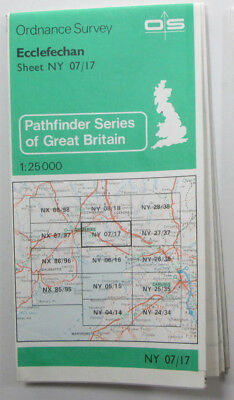 1979 old vintage OS Ordnance Survey 1:25000 Pathfinder map Ecclefechan NY 07/17
