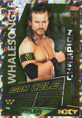 Topps Wwe Slam Attax Universe - Adam Cole Champion Card - Wrestling - Nxt