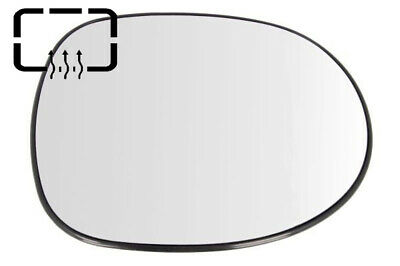 Left Passenger side Wide Angle Wing mirror glass for Honda Civic 06-11 Heated
