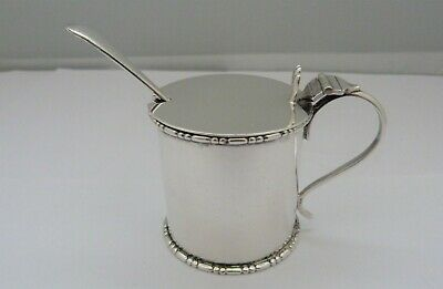1912 - SOLID SILVER - MUSTARD POT - WILLIAM AITKEN - 117 grams
