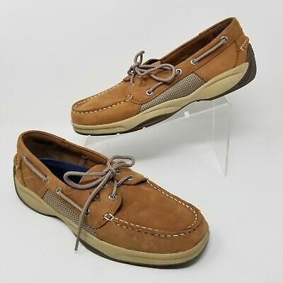Sperry Top Sider Intrepid 2 Eye Mens Moccasin Shoes Tan Sizes 9 11 12 13