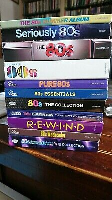 MASSIVE EIGHTIES HITS CD COLLECTION 43 DISCS 11 COMPILATION ALBUMS LIKE NEW 80's