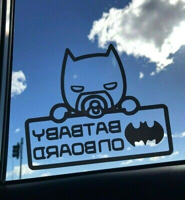 Batbaby Baby On Board Car decal sticker high quality vinyl sticker