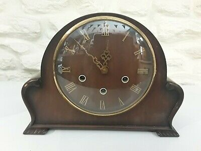 1940s 50s MANTLE CLOCK WITH WESTMINSTER CHIMES, SILENT SWITCH, RUNNING WELL