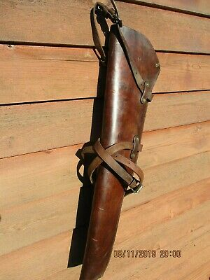 1942 HOTZE WW2 U.S. M-1 Garand Rifle Scabbard with Straps-Matching Numbers-