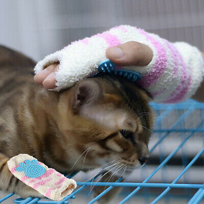 Cat Massaging Comb Grooming Cleaning Glove Hair Removal Brush Pet Accessories US