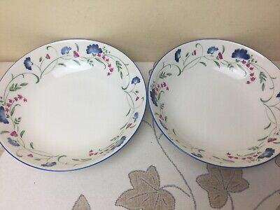 """Royal Doulton Expressions Windermere 2 x Soup / Cereal Bowls Unused Condition 7"""""""