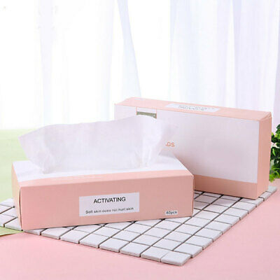 New Disposable Facial Cleansing Cotton Tissue Pad Makeup Remover 60 Sheets