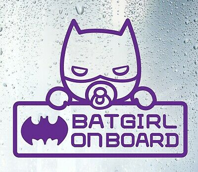 Baby On Board Decal Batgirl on board High Quality Car Decal Sticker