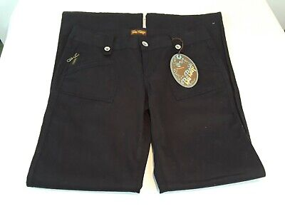 NWT Five Pocket Juniors Low Rise Be Bop Black Pants With Belt Loop Size 9