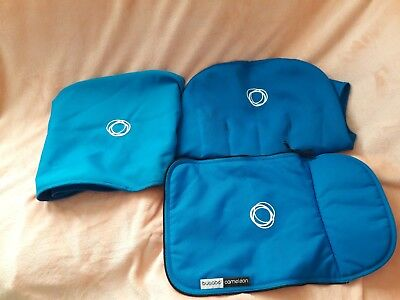 bugaboo cameleon canvas set blue will fit 1&2 hood, Seat Liner and apron/////