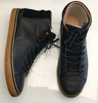 1521d380836 UGG AUSTRALIA HOYT Luxe High Black Gum Leather Sneakers Mens Shoes Size 11