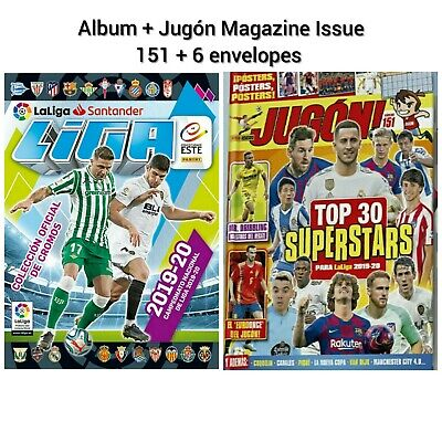 NEW!! LA LIGA 2019/20 Album + 6 envelopes + Jugón Spanish Magazine Issue 151