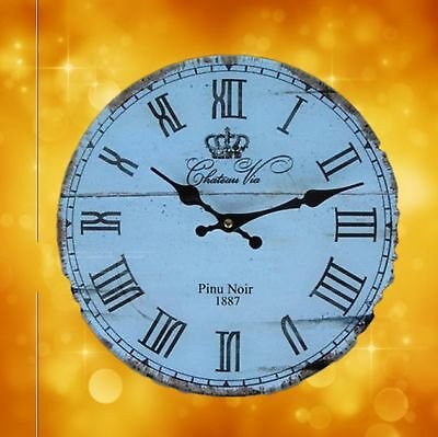 Wall Clock Pinu Noir Glass Batt Gift Antique Vintage Aesthetics Rare Decoration