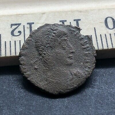 Ancient Roman Empire Copper Coin Artifact Authentic Antiquity Bible Age Old 5C