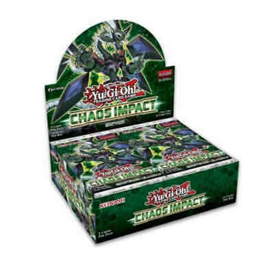 1 Case (12 Boxes) Yu-Gi-Oh Chaos Impact Booster Box 1st Ed Sealed Eng Preorder .