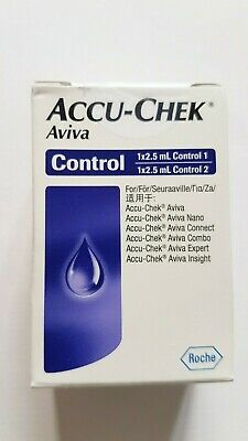 Accu Chek Aviva Control Solution 1 & 2 ~ NEW & SEALED ~ Exp May 2020 ~ 2.5ml ea