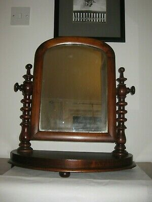 Antique Victorian Mahogany Dressing Table Toilet Mirror